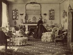 Interior Of A Victorian Era Home. 1865.