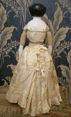 doll with bustle petticoat