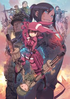 Gun Gale online, it's a spin-off of Sword art online season 2 story gun gale. This story will be separate from Kirito's story and that's all I know, hope it's good.