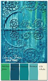 Color Palettes: Verdigris Antique Door