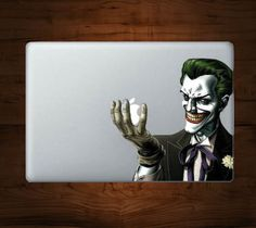 Joker MacBook Decal / The Joker Macbook Decal Mac Apple skin sticker – Dress up your MacBook with this stylish decal. http://thegadgetflow.com/portfolio/joker-macbook-decal/