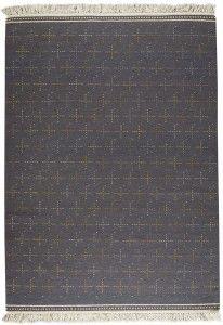 Bergen Grey is a hand woven kelim area rug, made of wool.