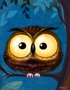Owl ~ could have students recreate their own version with paint, chalk, watercolors, pastels, felt or mixed mediums.