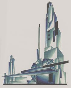 Iakov Chernikhov, Principles of modern architecture, composition 220