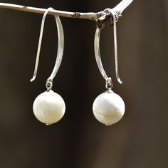 Howlite Gemstone French Hook Earrings