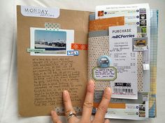 Travel journal ideas smash book notebooks 36 ideas for 2019 Journal Pages, Junk Journal, Bullet Journal, Journal Diary, Scrapbook Journal, Travel Scrapbook, Scrapbook Paper, Scrapbook Quotes, Kids Scrapbook