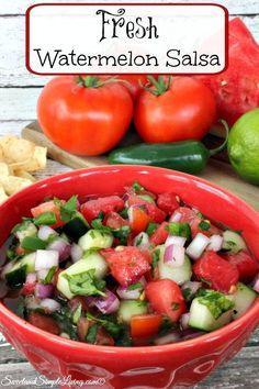 Fresh Watermelon Salsa! Perfect for those spring veggies!