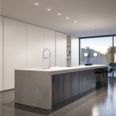 Kitchen Room Design, Modern Kitchen Design, Interior Design Kitchen, Luxury Kitchens, Home Kitchens, Open Plan Kitchen Dining Living, Minimalist Kitchen, Cuisines Design, Kitchen Remodel