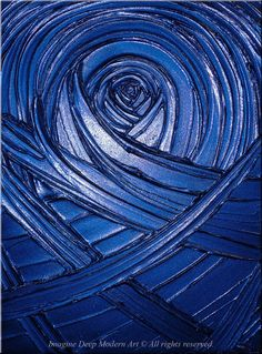 Blue Painting Indigo Royal Navy Blue - Healing Sapphire Creation - 18x24 High Quality Original Textural Sculptural Impasto Modern Fine Art