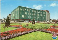 """with the well-known departement store """"de bijenkorf"""" (=beehive), postcard, holland, Eindhoven, Gio Ponti, World View, Bristol, Holland, Dolores Park, 18th, Mario, Beehive"""