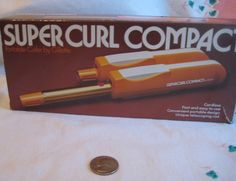 Curling Iron Super Curl Compact Gillette 1970s Looks by RetroBabs, $9.99