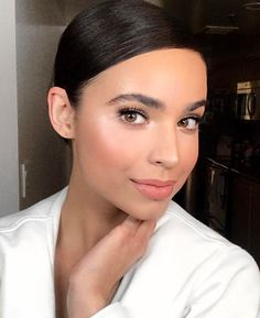 Last Look Of Grammy Day On @sofiacarson Hair By @cailenoble Makeup By @patrickta Foundation By @lamer Lipstick By @sephora Liquid Mattes. Lashes By @kissproducts In Little Black Dress and Foundation Applied With My New Tool @themakeupdrop