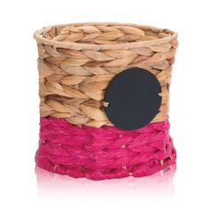 Your Way Bin in Pink Water Hyacinth for $20 - Go all natural with this versatile bin in a handcrafted Water Hyacinth weave. A chalk panel means you can customize it over and over again! Via @thirtyonegifts