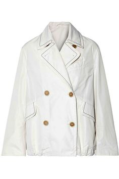 Double-breasted bead-embellished shell jacket   BRUNELLO CUCINELLI   Sale up to 70% off   THE OUTNET