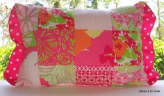 Lilly Pulitzer Bedding | Lilly Pulitzer Fly By Patch Custom Pillow