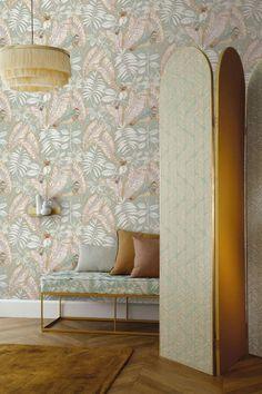Papier peint printemps : notre sélection - Marie Claire Manila, Style Tropical, Deco Kids, Casamance, Piece A Vivre, Fabric Wallpaper, Outdoor Fabric, Design Process, Modern