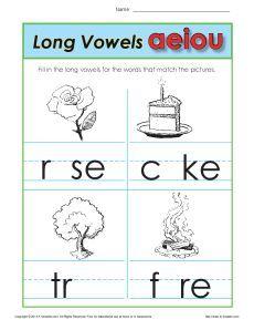 RTI: Level 1 K-2  Long Vowels