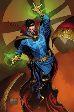 To commemorate 400 issues of Doctor Strange, Marvel Chief Creative Officer Joe Quesada provides variant to mark occasion. Marvel Dc Comics, Marvel Fan, Marvel Heroes, Marvel Avengers, Marvel Defenders, Cosmic Comics, Marvel Comic Character, Comic Book Characters, Marvel Characters