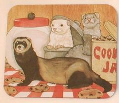 Ferrets with Cookie Jars Mouse Pad