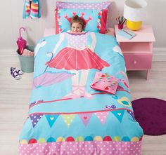 Reversible Tabitha Tightrope Quilt Cover Set Or Cushion by Cubby House Kids