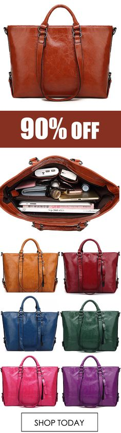 Women Fashion Minimalist Handbag Leisure Business Shoulder Bag Tote Bag. #casual #fashion #style