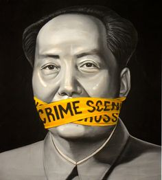 "Saatchi Online Artist: Gianluca Traina; Crayon, 2010, Drawing ""Mao Tse Tung and the Chinese Revolution"""