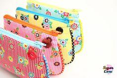 cute pouches, cute piping