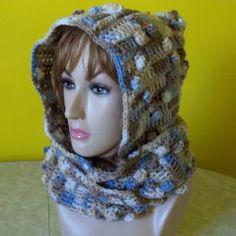 crochet hood patterns for beginners | Crochet Bernat Satin Hooded Scarf | Free Crochet Pattern