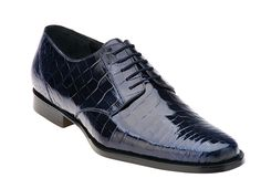 Belvedere Shoes Gino Navy Nile Crocodile Shoes F17