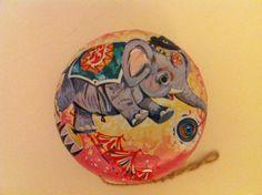 Vintage Tin Toy YoYo Elephant - Hong Kong