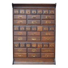 Beautiful Oak Card Cabinet by Michigan Chair Co, circa 1915 1