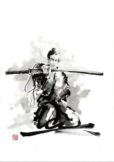 The Sword Painting by Mariusz Szmerdt