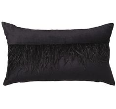 Davinci Boa 30x50cm Filled Cushion Black