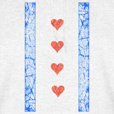 Chi Hearts Flag Shirt @ www.chicagohoody.com  #Chicago