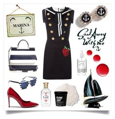 Sail Away- Marina by bunnyfindsvintage on Polyvore featuring Dolce&Gabbana, Topshop, Herbivore, dolceandgabbana and SpringStyle