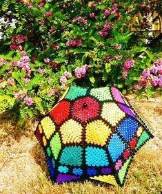 Crochet Umbrella - Granny Mosaic SUNbrella