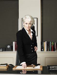 Meryl Streep as the beastly Miranda Priestly in The Devil Wears Prada