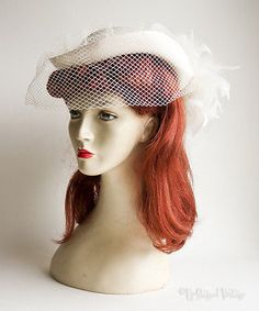 Vintage #1970s/80s #ivory pill box hat with feathers & #veil. wedding? free uk p&,  View more on the LINK: 	http://www.zeppy.io/product/gb/2/331570490978/