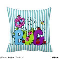 Cute as a Bug Pillow