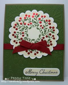 I love the simplicity of this.  I have that stamp and I may have that Cuttlebug embossing folder, too.  Maybe I'll get cards done this year.