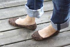 Leopard mod podge shoes
