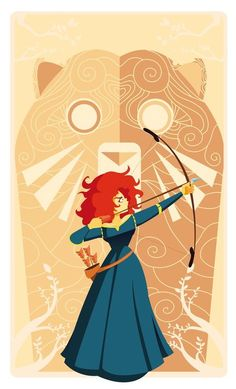 A fanart from brave, merida. Disney Pixar, Disney Nerd, Arte Disney, Disney Fan Art, Disney And Dreamworks, Disney Love, Disney Magic, Disney Characters, Disney Style