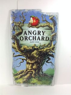 Angry Orchard Cider Tin Beer Bar Sign Man Cave Pub Apple Keg New!! #angryorchard #mancave #beersign #breweriana #advertising #cider #hardcider