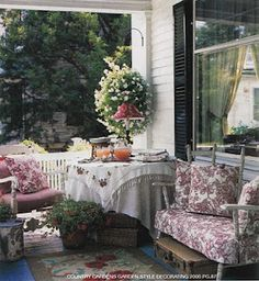 shabby porch... sit a spell