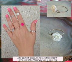 #5. Sterling Silver Band Rings, Midi Ring. Criss cross, Ankh, Rose,Tree of Life