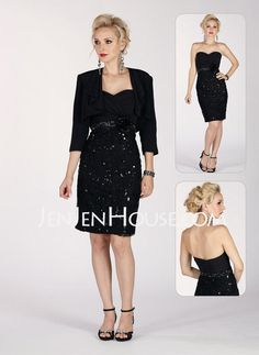 Mother of the Bride Dresses - $147.39 - Sheath Sweetheart Knee-Length Chiffon  Charmeuse Mother of the Bride Dresses With Ruffle  Beading (008006501) http://jenjenhouse.com/Sheath-Sweetheart-Knee-length-Chiffon--Charmeuse-Mother-Of-The-Bride-Dresses-With-Ruffle--Beading-008006501-g6501
