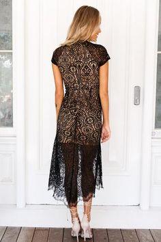 Pretty In Lace Dress (Black)▶ ▷ ▶ Shop It Now ❤ Xenia Boutique xx