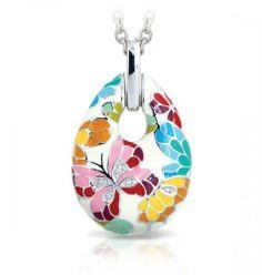 Belle Etoile Butterfly Kisses Ivory Pendant