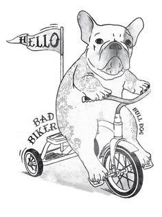 French bulldog graphic design made by Danilo De Donno -  www.danilodedonno.com