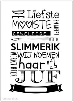 Meester nr 1 kaartje I Familieprints School Quotes, Teacher Quotes, Teacher Appreciation Gifts, Teacher Gifts, Quiet Book Templates, Silhouette Cameo Projects, Jar Gifts, Little Gifts, Life Quotes